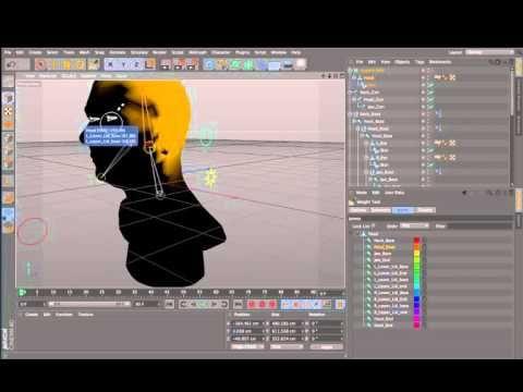 #17. Cinema 4D, Rigging a Human Head  - YouTube