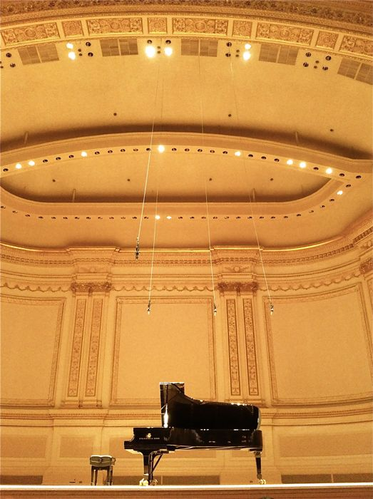 Carnegie Hall. My son bought, for my first visit to the city, Violin piano recital tickets. He knew I would enjoy since I loved Ray Chen violin concerto so much. (Still prefer Ray Chen). A wonderful, relaxing evening after a long day of running around the city.