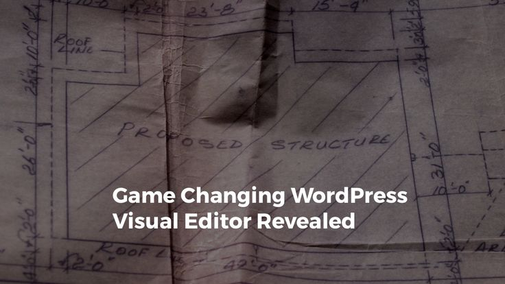 Visual Editor for WordPress. Drag and drop, WYSIWYG are other terms that barely describe the power of...