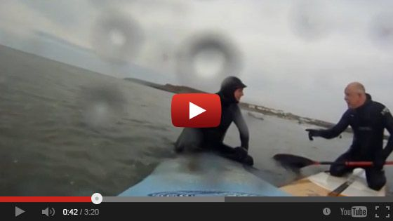 Unknown Stand Up paddle boarder launched into four-letter tirade