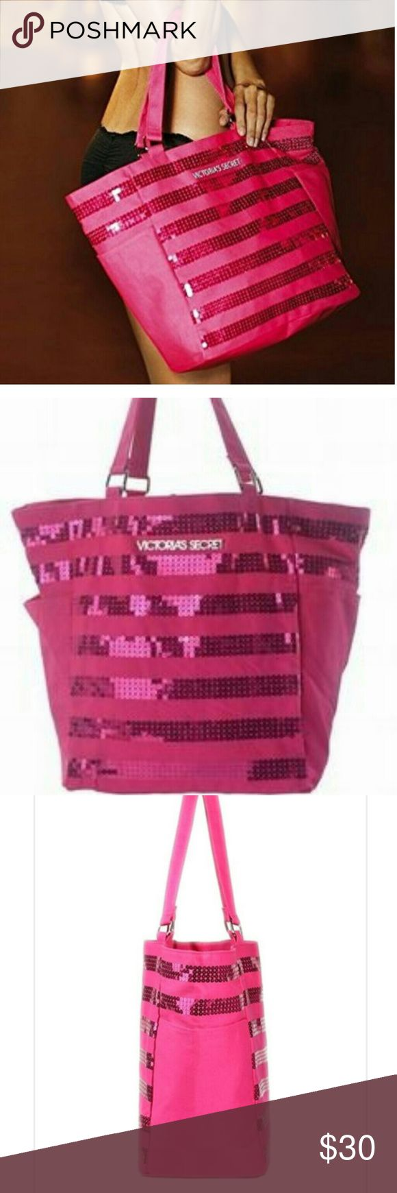 Victoria's Secret Tote Mint condition limited edition Black Friday 2012 Victoria's Secret sequin tote. Victoria's Secret Bags Totes