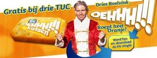 In de nieuwe campagne van TUC staan OEHHH!!! momenten tijdens de EK-wedstrijden centraal. Als symbool van deze spannende 'net-niet' momenten lanceert TUC het OEHHH!!! relatiegeschenk kussen. Op het moment dat het gewicht op dit relatiegeschenkkussen wordt verplaatst, hoor je het geluid OEHHH!!! Toepasselijk, want uit onderzoek van TUC blijkt dat 75% van de Nederlanders tijdens een spannend moment naar het puntje van de stoel of bank schuift...