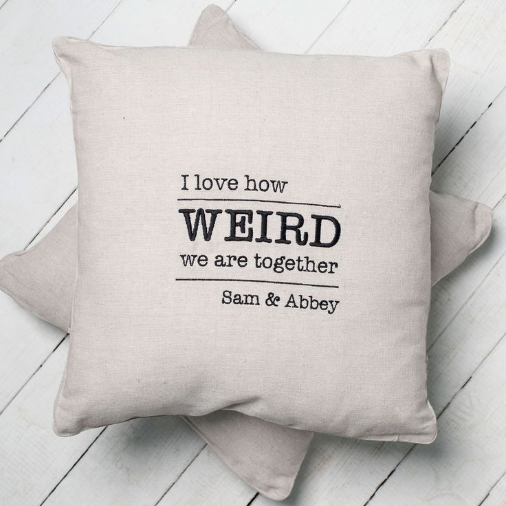 Personalised Natural Cushion - Weird Together | GettingPersonal.co.uk