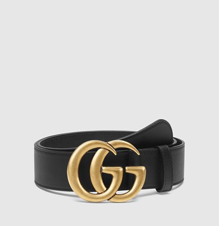 Gucci - leather belt with double G buckle 400593AP00T1000