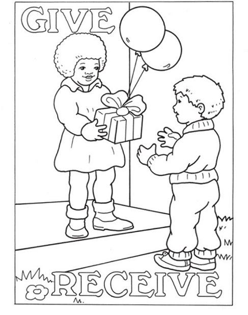 Opposite Coloring Pages For Preschool