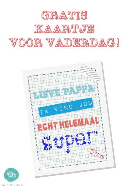 Gratis uniek vaderdagkaartje. http://www.metdehand.nl/blog/gratis-downloads/