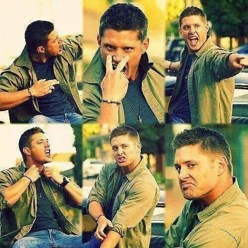 When Jensen is rocking out to Eye of the Tiger