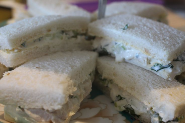 Elegant chicken ribbons sandwiches. Fantastic for any light lunch or afternoon tea
