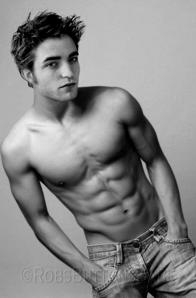 This has to be photo shop because I don't remember this body in twilight but then again he might have felt a little competition from jacob;)
