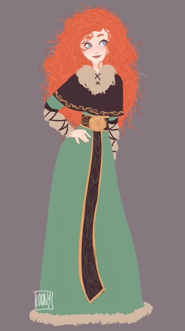 """Merida from """"Brave"""" in an alternative costume design - Art by loonylein.tumblr.com"""
