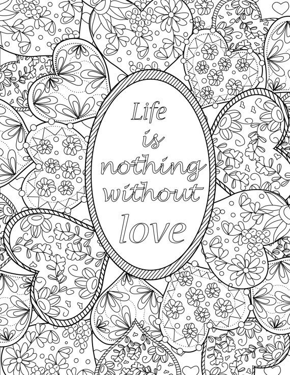Inspirational Quotes A Positive Uplifting By LiltColoringBooks Adult Coloring PagesColoring SheetsColoring BooksNotebook