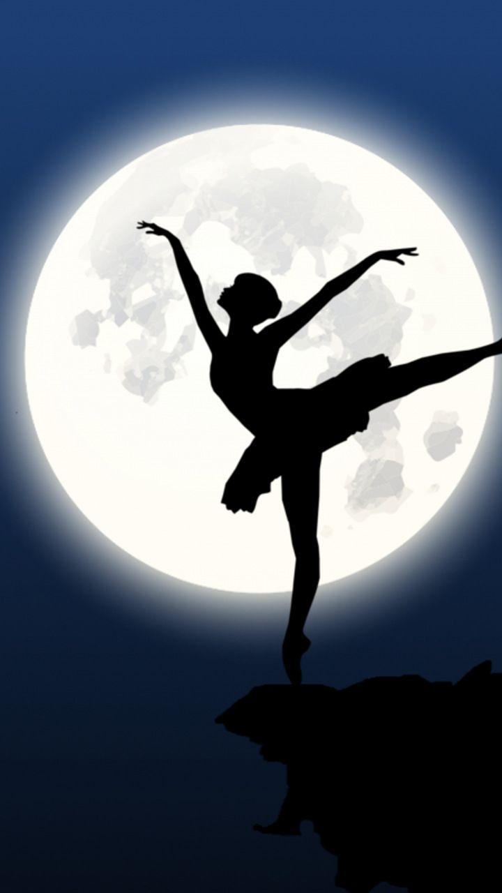 Ballerina Silhouette Moon Dance 720x1280 Wallpaper Dance Silhouette Silhouette Drawing Silhouette Art