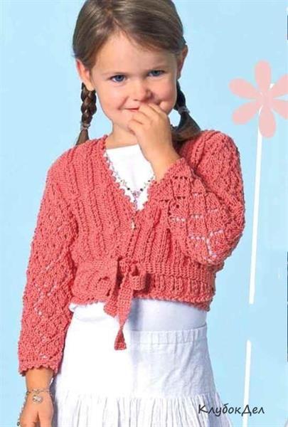 Детский свитер с запахом