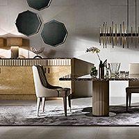Daytona arredamento contemporaneo moderno di lusso, arredo e mobili in stile art decò per la casa inspirata al design anni 30