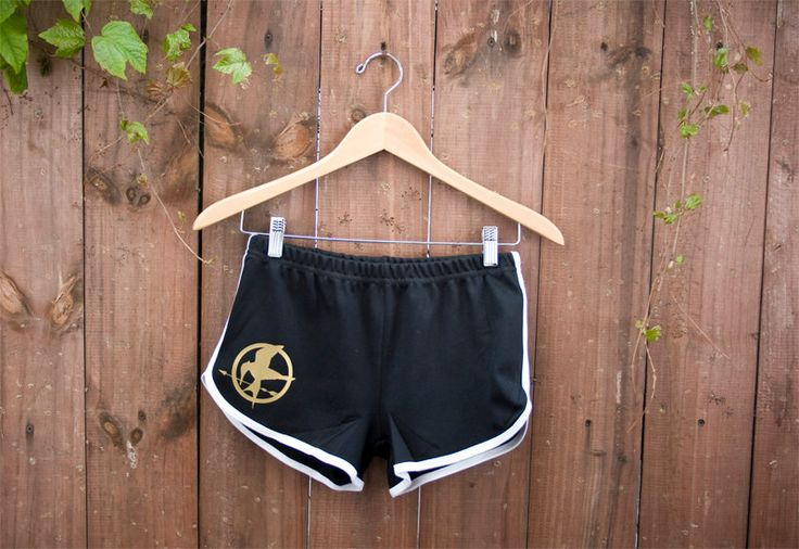 Mockingjay Pin Shorts from the Hunger Games - 70s Style American Apparel Shorts - Choose Size - Made to Order. $26.00, via Etsy.