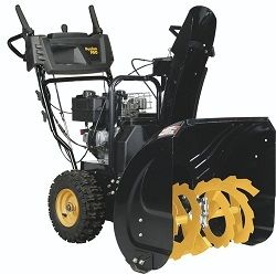 The Poulan Pro PR241 two stage snow blower is ideal for the homeowner that desires to reduce the amount of time and effort involved in snow removal.  This two stage 24 inch snow blower is powered with a 208cc Poulan PRO engine that delivers 9.5 foot lbs of torque. That plenty of power to remove up to 12 inches of snow. Read our Review @ www.pickmymower.com