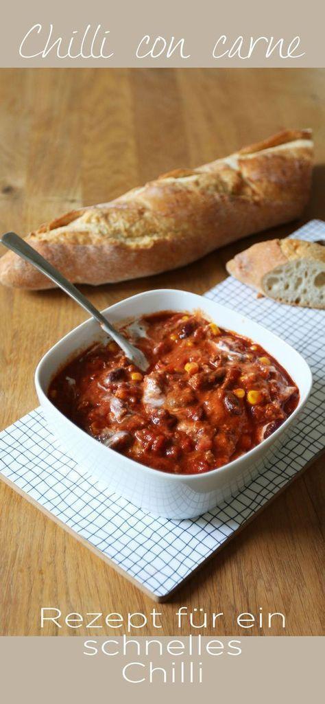 Rezept // Chili con Carne und was schönes für den Tisch