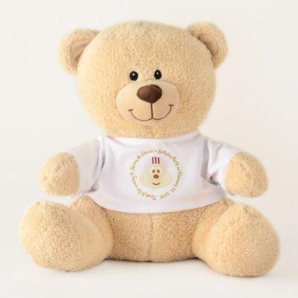 Birthday Souvenir - W.Helmet 鮑 鮑 T. Bear (Medium) - baby birthday sweet gift idea special customize personalize