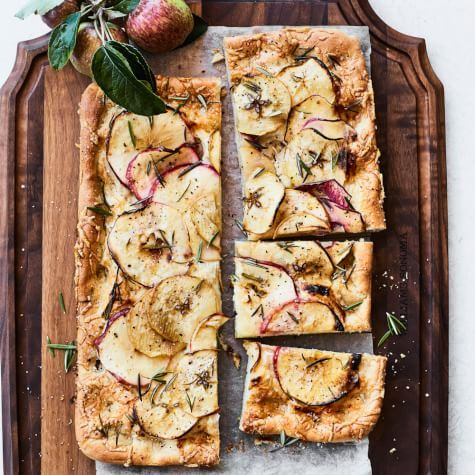 Apple Focaccia with Gruyère and Rosemary