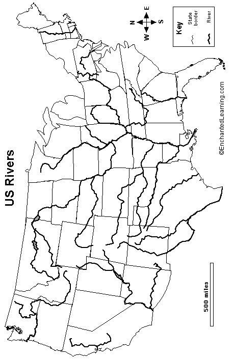 Best ChAGeographycentralamerica Images On Pinterest Classroom - Map of united states with rivers labeled