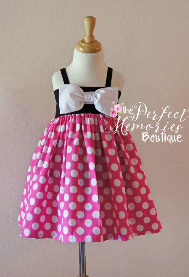 Pink Minnie Mouse Dress | Minnie Mouse Dress |Girls Minnie Dress | Toddler Minnie Dress | Minnie Mouse Birthday Party | Baby Minnie Mouse by ThePMB on Etsy https://www.etsy.com/listing/289100083/pink-minnie-mouse-dress-minnie-mouse