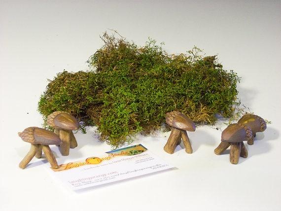 Acorn Stool for Fairy Garden by laughingorangestudio on Etsy, $6.00