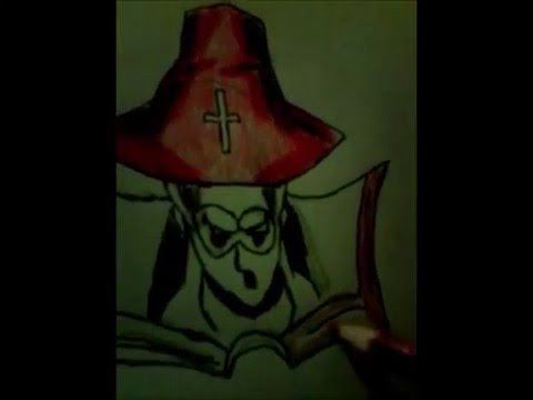 Speed Drawing Father Sorrow with colour