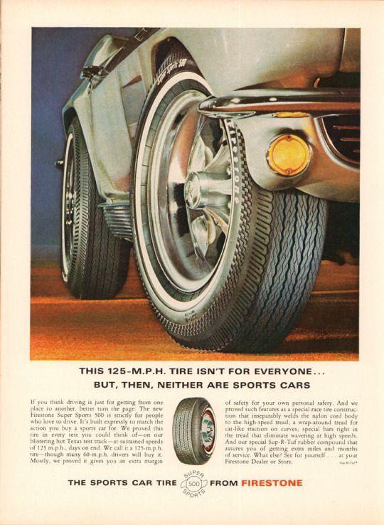 firestone super sport 500 tire mustang mad men art the vintage art collection
