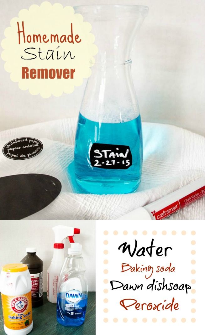 Homemade stain remover and Laundry stain remover by Four Generations One Roof