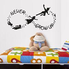 Vinyl Wall Decal Sticker Bedroom Peter Pan Never Land Kids Never Grow up r1544