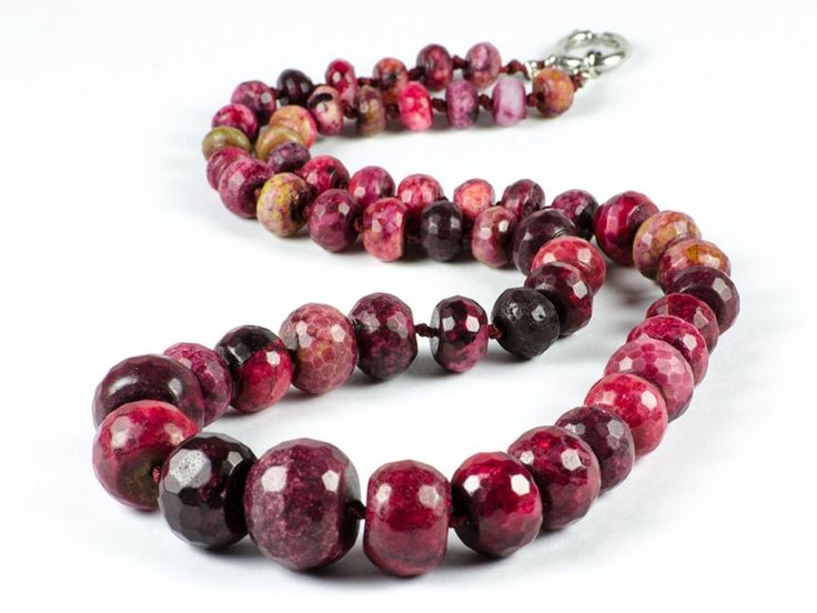 Loose Faceted Ruby Gemstone Necklace | The Beaded Garden