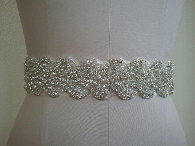 Wedding Dress Bridal Sash Belt - Crystal Wedding Sash Belt