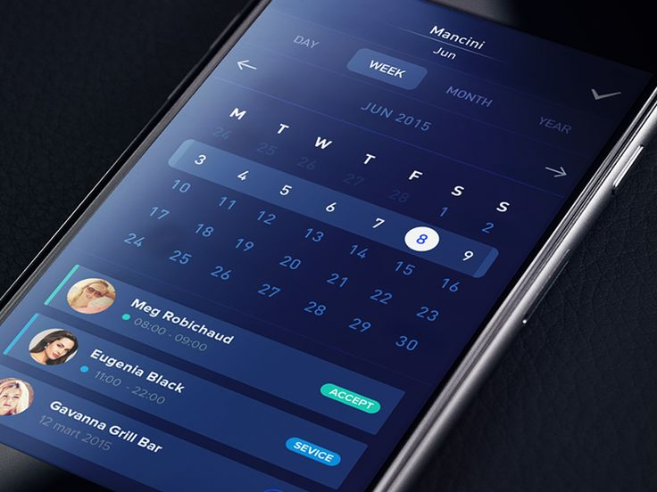 Calendar iOS by Gleb Kuznetsov — Ramotion.com