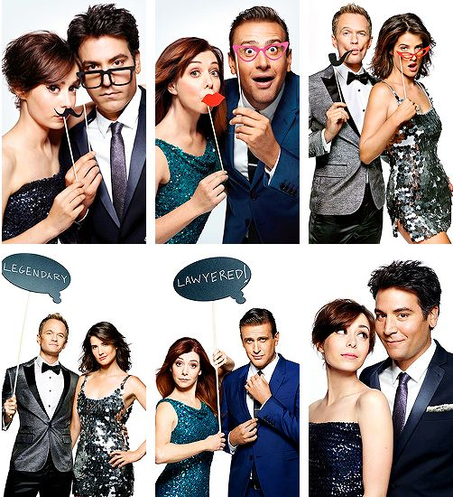 Couples; EW photo shoot. Ted and the Mother! I can't wait for season 9!