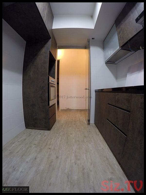 White With Walnut Cabinet Kitchen Jotterwood Vinyl Flooring Singapore Laminate In 2020 Vinyl Flooring Flooring Engineered Wood Floors