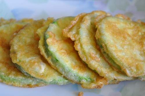 Korean Zucchini Fritter (Hobak Jeon) - I plan on using an egg replacement but this looks yummy!