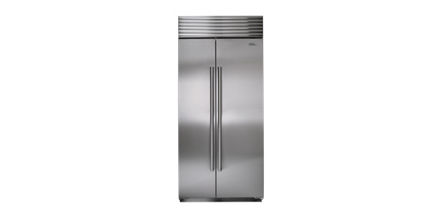 """Sub Zero 36"""" BI-36S Side-by-Side Refrigerator  Dimensions 84"""" x 36"""" x 24""""    Total Capcity 20.2 cu ft    about $9,100"""