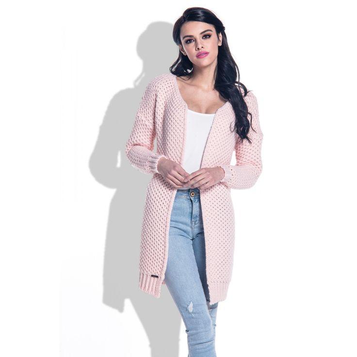 Cardigan clasic cu maneci lungi,elegant și confortabil pinkpowder  #cardiganedama #cardiganlana #knitwear #cardigantricotat