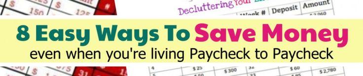 Geldherausforderungsideen für JEDES Budget (auch wenn Sie von Gehaltsscheck zu Gehaltsscheck leben)