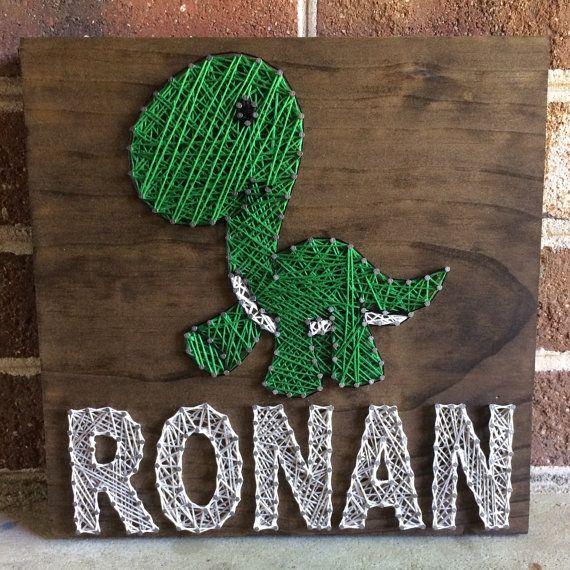 Custom Dinosaur Name Sign String Art Wood Sign Home Decor-MADE TO ORDER