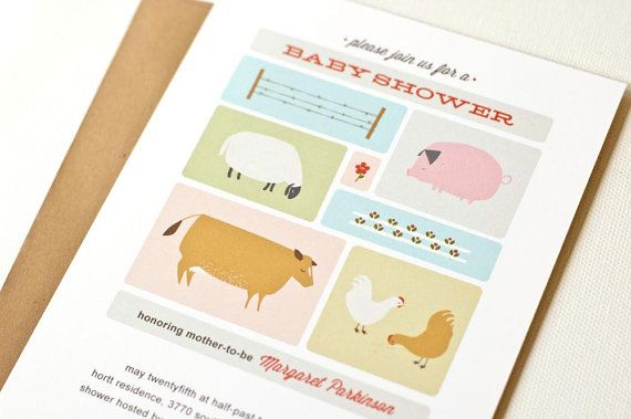 Farm Baby Shower Invitation // Gender Neutral by PearentheticalPress