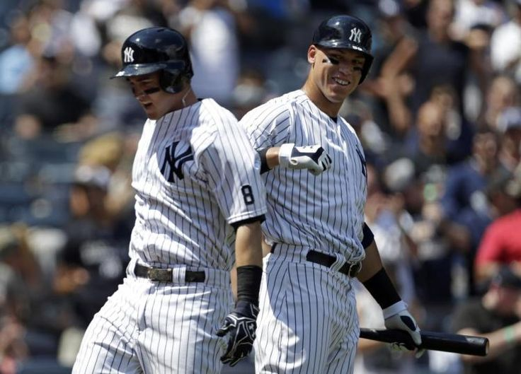 Meet the Baby Bash Brothers as Tyler Austin and Aaron Judge both blast homers in 2nd inning.
