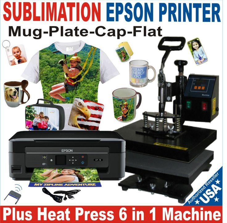 6 in 1 combo heat press transfer tshirt hat mug epson