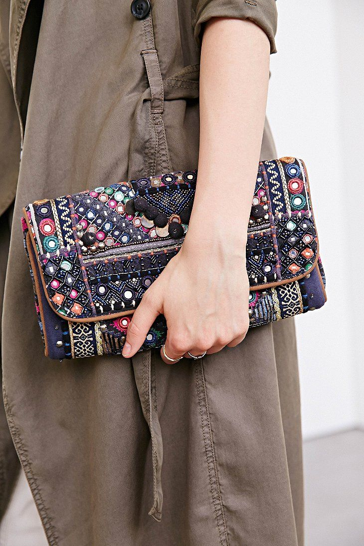 Ecote Quilted Mirror Clutch