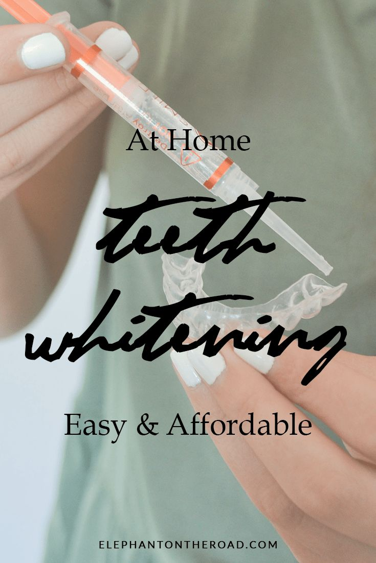 At Home Teeth Whitening Easy And Affordable. Smile Brilliant. Elephant on the Road.