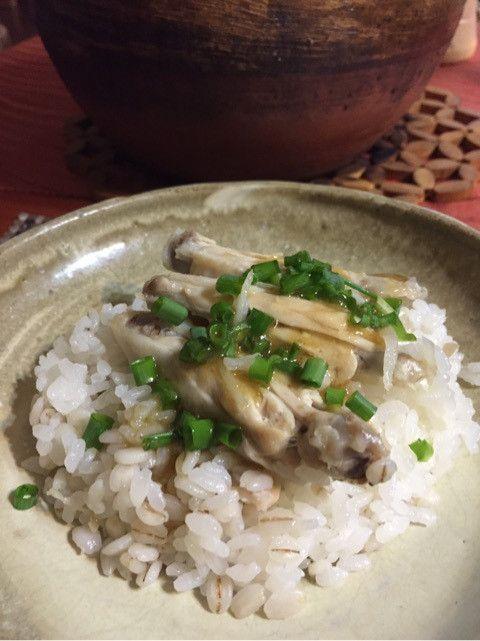鶏と生姜たっぷりエスニック土鍋ごはん♪