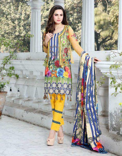 MS 03 ladies suit design in pakistan