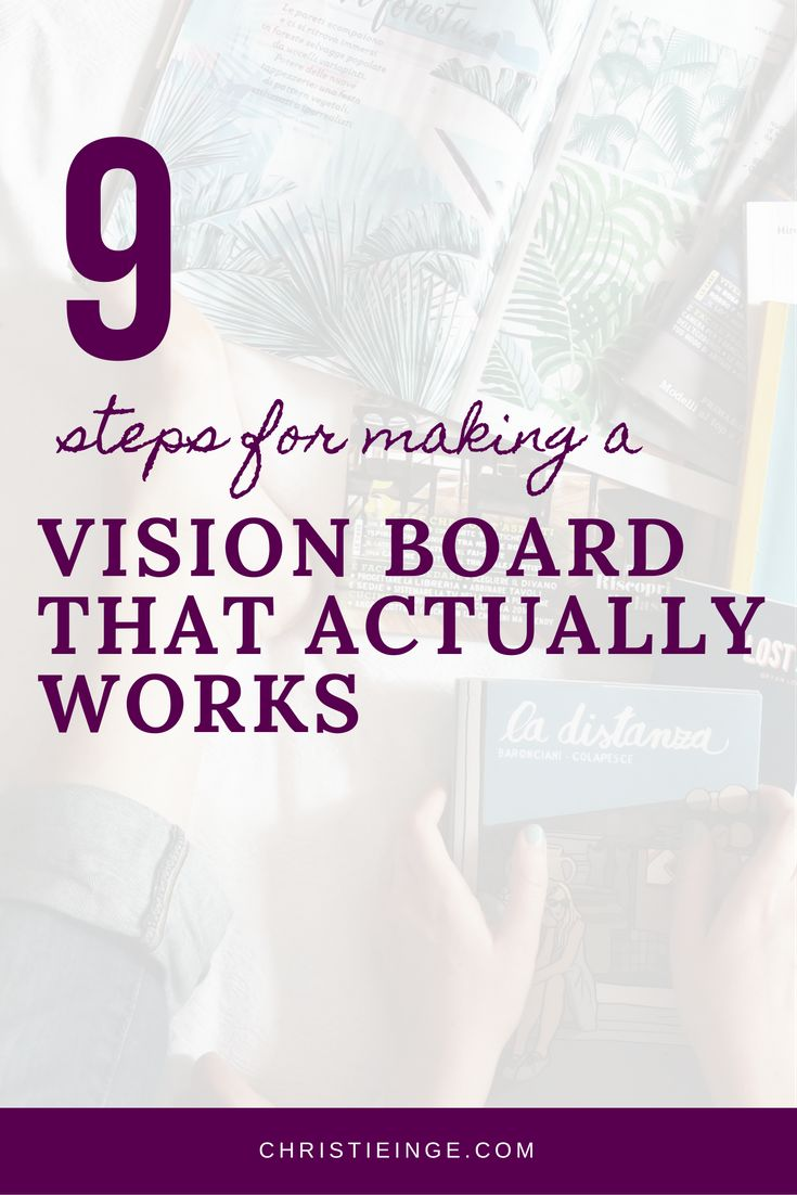 vision board vision book intentional living personal growth goals setting