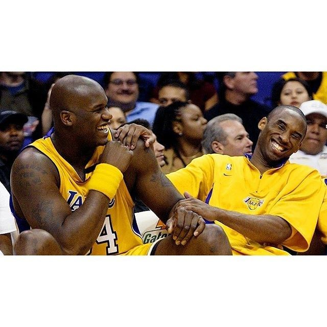To anybody who grew up on these guys and witnessed arguably the most dominant 1-2 punch, go listen to this morning's Shaq podcast where Kobe was the guest. It was a beautiful thing to hear these guys reflect on everything and how much they did appreciate each other. They have both really grown as people and the conversation was just glowing with compassion. #ballislife #burythehatchet #kobe #shaq #lakers #dybamicduo