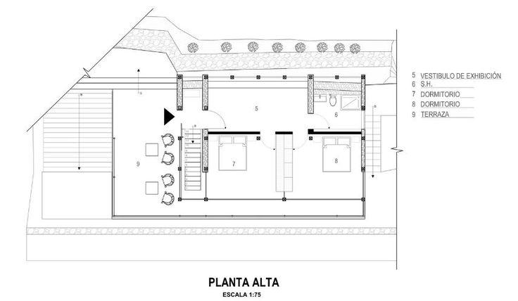 Plano del segundo piso de casa de campo